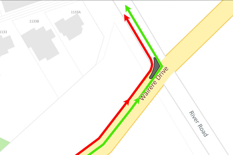 Wairere Dr - River Rd Closure | Access via the intersection