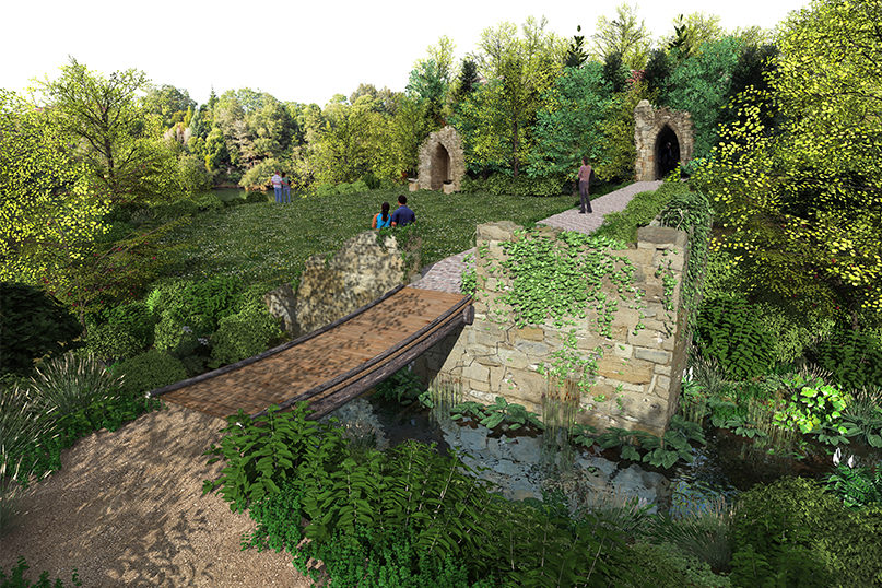 Concept designs of the new Picturesque Garden at the Hamilton Gardens