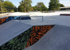 The new and improved Melville Skate Park
